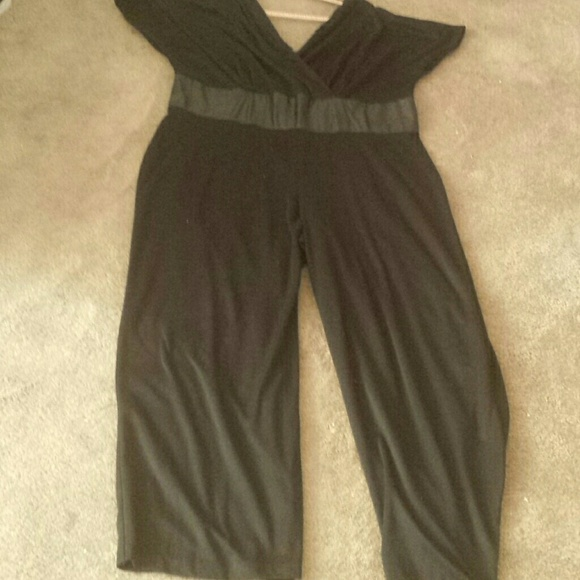 Ashley Stewart Pants Black Jumpsuit Poshmark